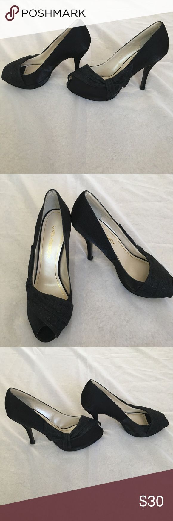 """Caparros Peep Toe Heels These size 9 Caparros are in GUC. There is wear on the bottom, but otherwise little wear. These are perfect for a night out, holidays or other special occasions. Approximately 4"""" heel. Caparros Shoes Heels"""