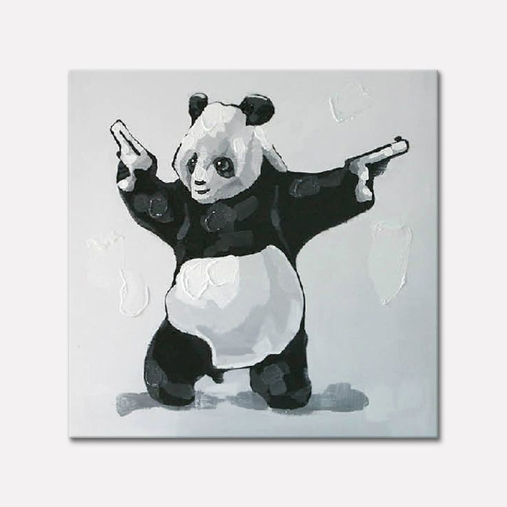 Find More Painting & Calligraphy Information about Panda Oil painting On Canvas Wall Pictures Paintings For Living Room Wall Art Canvas plattle knife modern abstract hand painted1,High Quality paintings children playing beach,China painting digital Suppliers, Cheap painting bodies from ArtupPainting on Aliexpress.com