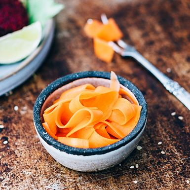 Snabbpicklade morötter