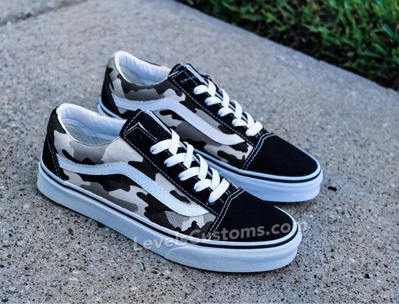 Custom Color Camo Vans | Custom vans shoes, Vans shoes, Cute