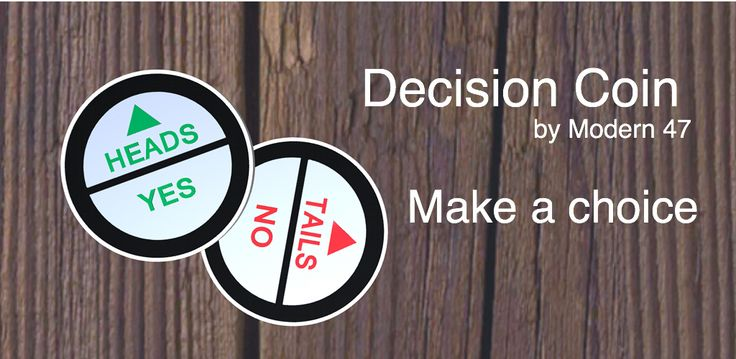 Beat decision fatigue. Use the Decision Coin App to make simple decisions.