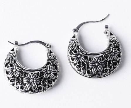 Antique Etched Pattern Hoops