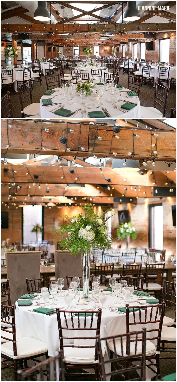 wedding reception minnetonkmn%0A Wedding reception decor and centerpieces for guest tables at Lowertown  Event Center  Photos by Saint Paul wedding photographer Jeannine Marie  Photo u