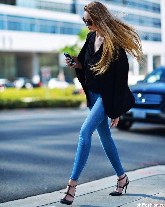 модные джинсы 2015 - джинсы скинни и джеггинсы