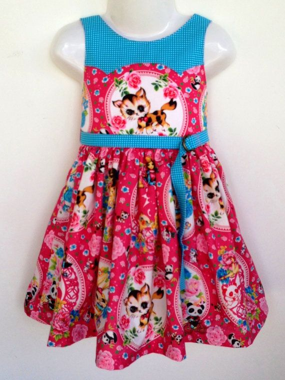 size 1 to 12 years Girls Dress PDF Sewing Pattern by ainsleefox, $12.00