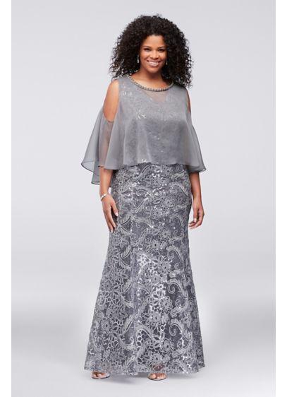 b9a6a5c4801 Long Sheath Capelet Formal Dresses Dress - Ignite