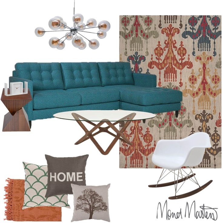 Eclectic furniture. I must have this couch!