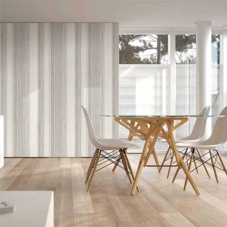 Superfresco Easy 52cm x 10m Twine Stone And Cream Wallpaper #cleanwhite #modernwallpaper #stripes