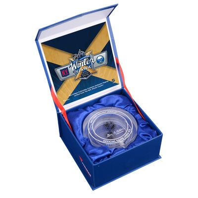 Fanatics Authentic 2018 NHL Winter Classic New York Rangers vs. Buffalo Sabres Crystal Puck - Filled With Ice From The 2018 Winter Classic