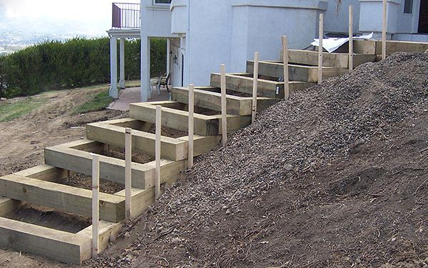 How to build steps for a steep slope