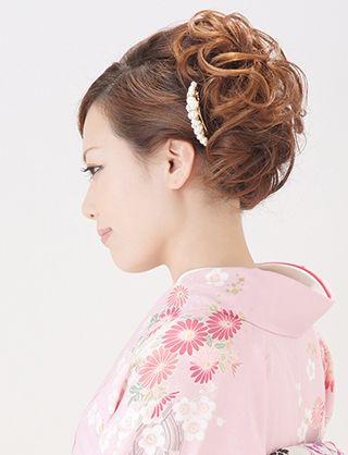 【訪問着ヘア】大人可愛いアップスタイル 夢館ビューティー    京都    着物着付・ドレスヘアセット&メイク    結婚式・およばれ・パーティに