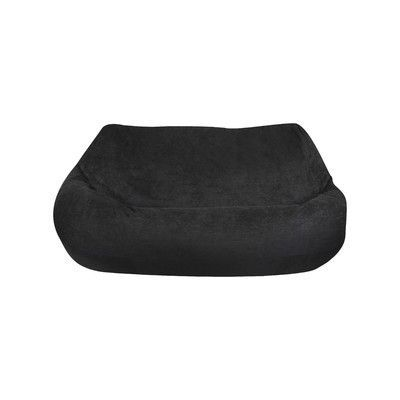 Jordan Manufacturing Bean Bag Sofa Upholstery: Black