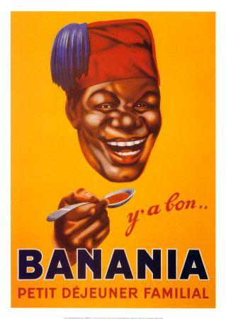 Y'a bon Banania ! chaque matin au p'tit déj... / Le MRAP n'existait pas encore et ce genre de pub passait sans problème !