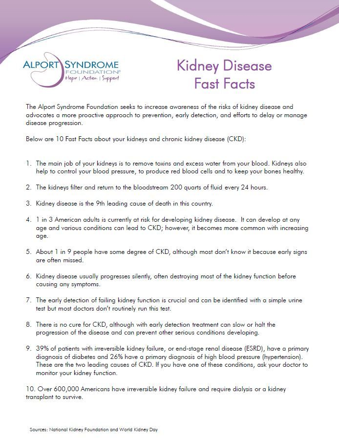 10 Facts about Chronic Kidney Disease, like Alport Syndrome