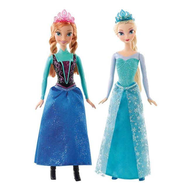 Mattel Muñeca Anna O Elsa Purpurina Frozen El Reino De Hielo Mattel Juguetes Princesa Juguetes Frozen Muñecos De Disney