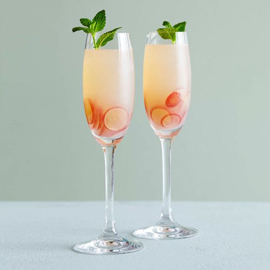 Grape Sparklers | Fizzy and not too sweet, all you need is grapes, dry sparkling wine and mint.