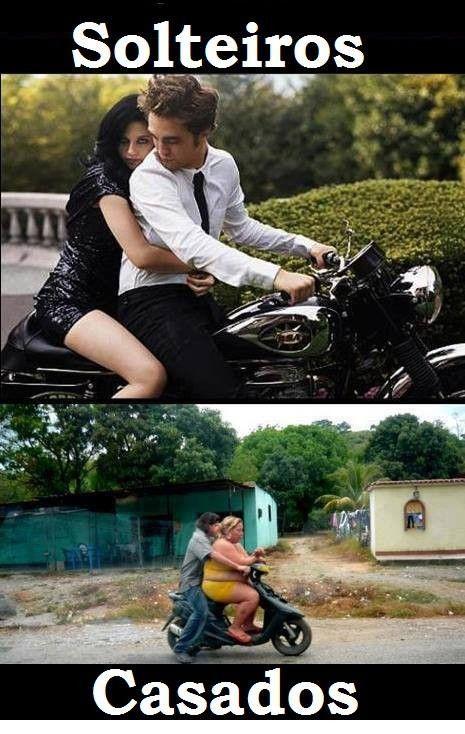 solteiros e casados
