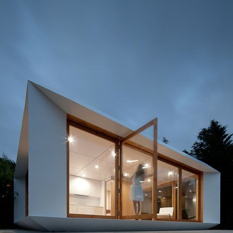 This prefabricated house in Portugal costs about the same price to manufacture as a family car.