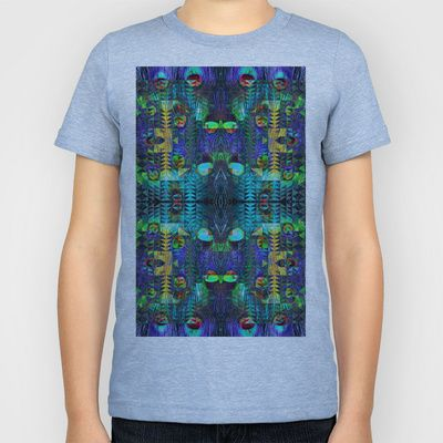 Peacock Kids T-Shirt by Nahal - $20.00