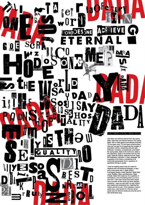 hugo ball dada work | chose to use DADA manifesto, by Hugo Ball 1916 . I liked dada ...