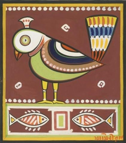 Jamini Roy - Untitled (Bird)
