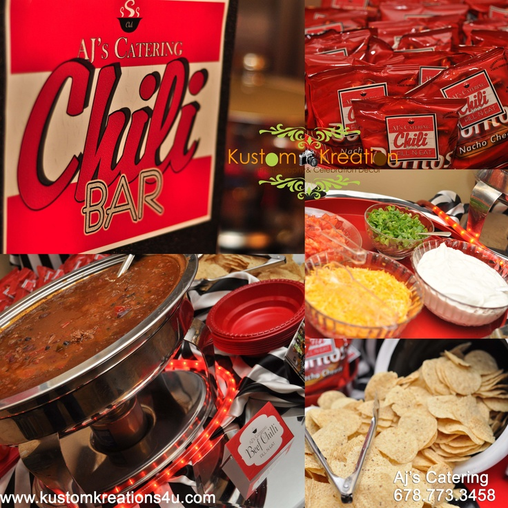 Chili Bar  Food & Design- Aj's Catering 678.773.3458   #Chilibar #Chili #catering #Atlantacaterer