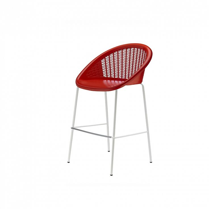 Modern indoor/outdoor technopolymer barstool Bon Bon by Scab