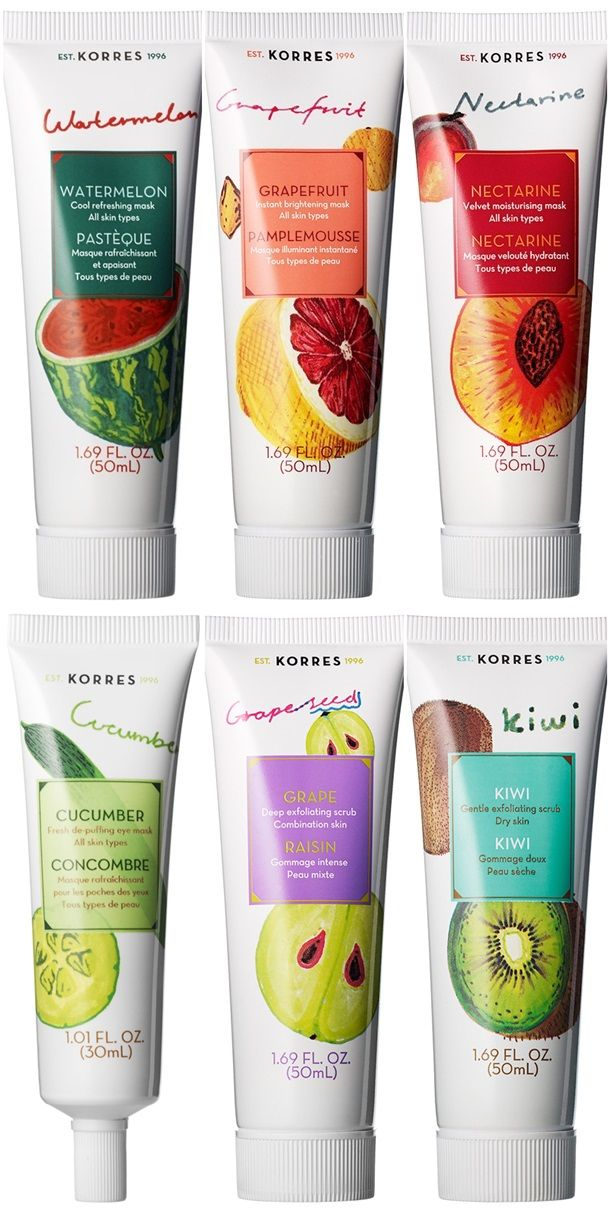 Heads up Korres has a new range of Beauty Shots Facial Masks available!