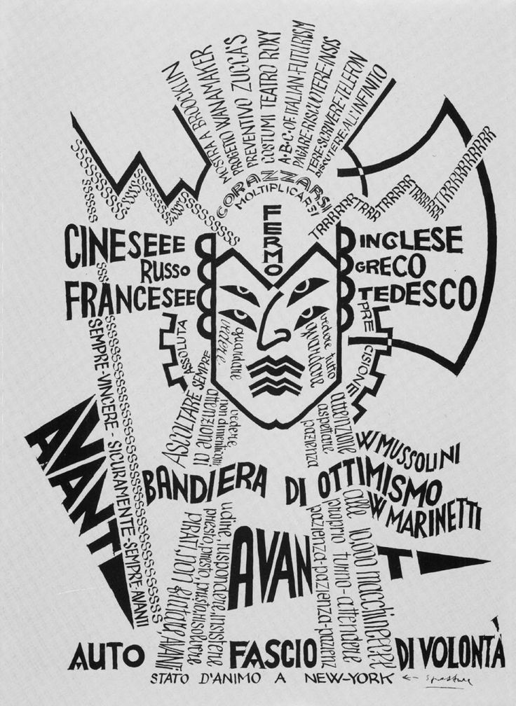 "Fortunato Depero, Italy, 1930 [Futurism] ""States of Mind in New York"""