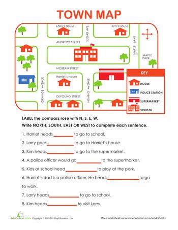 Worksheets: Learning Directions