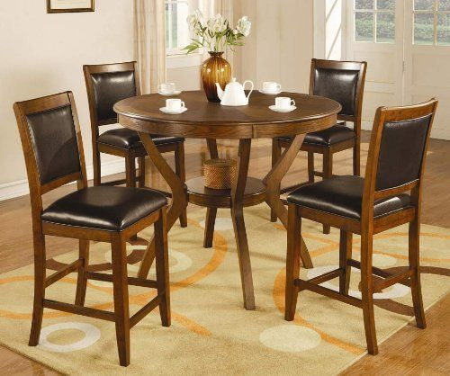 Shop Coaster Fine Furniture Nelms Walnut Round Dining: Dining Room Sets Images On