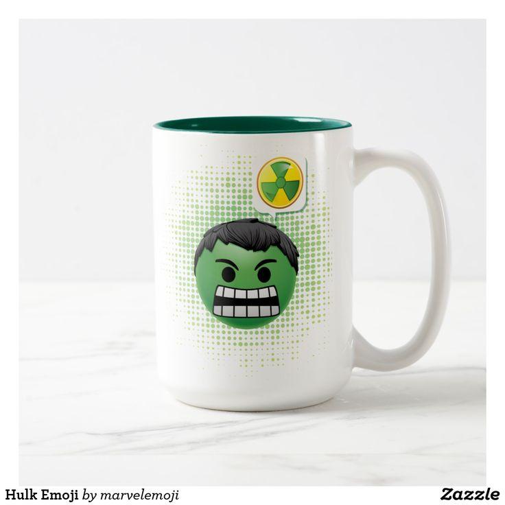 Hulk Emoji Two-Tone Coffee Mug