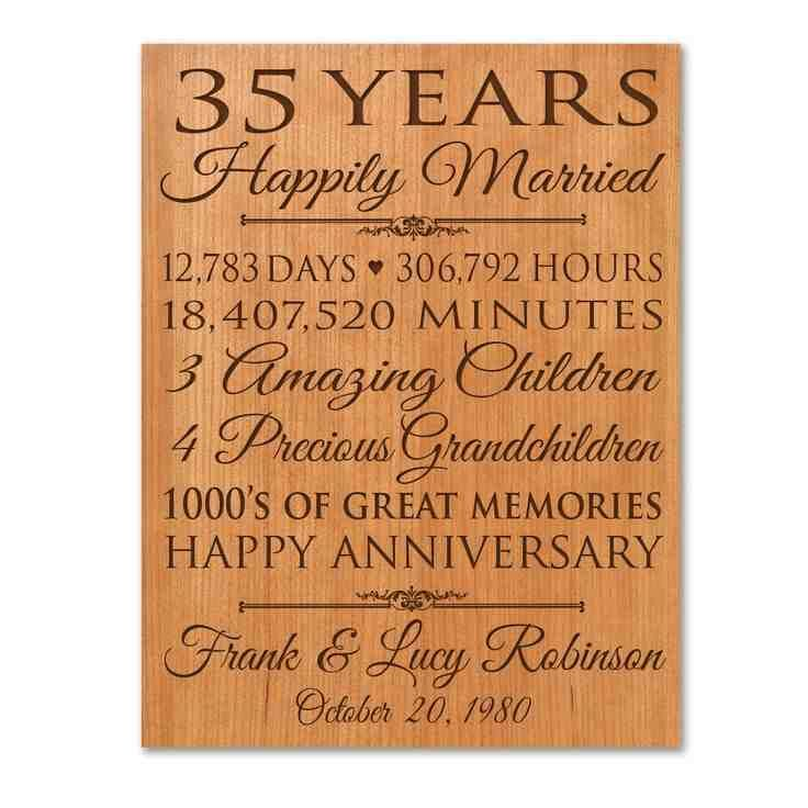 Wedding Gifts By Years: 35Th Wedding Anniversary Gift Ideas For Parents
