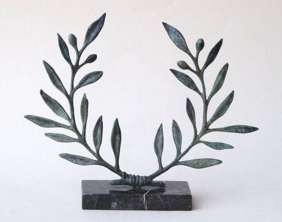 Olive Wreath Bronze Sculpture Metal Art Greek by GreekMythos