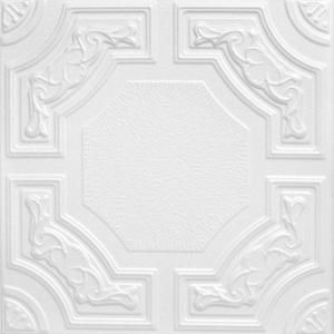 A La Maison Ceilings Evergreen 1.6 ft. x 1.6 ft. Styrofoam Glue-up Ceiling Tile in Plain White (21.6 sq. ft. / case) R28cpw-8 at The Home Depot - Mobile