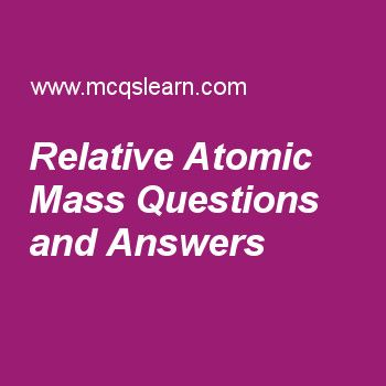 Relative Atomic Mass Questions and Answers