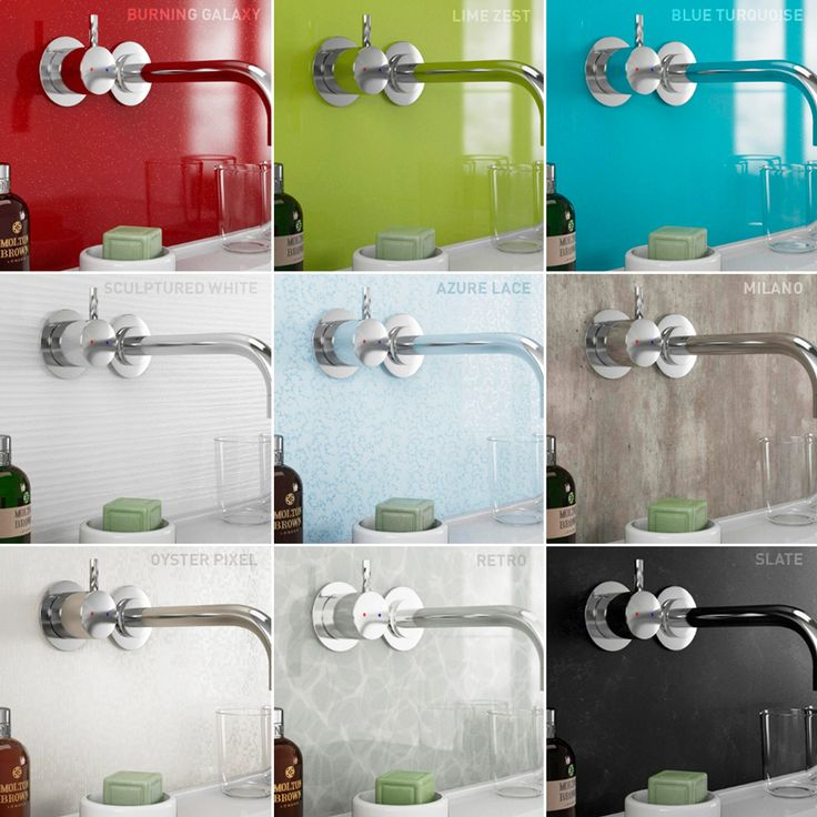 These waterproof wall panels from Rearo are an ideal choice for easy bathroom makeover this spring!