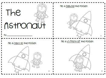 "√ FREE ""The Astronaut"" Positional Word Book"