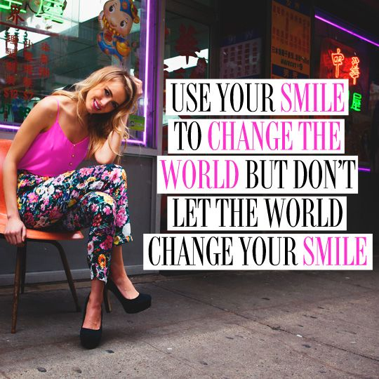 Keep smiling! #quote #smile #happiness #yumikim
