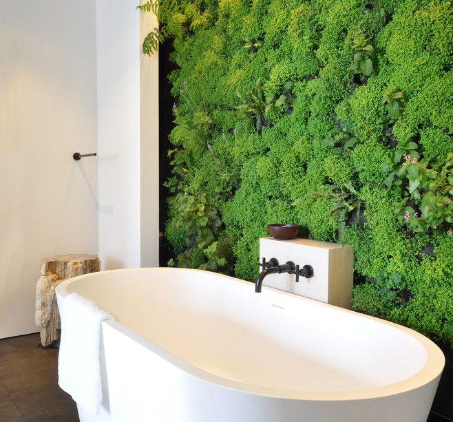 bathroom living wall, Crazy cool!