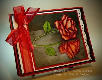 Beautifully colored rose. includes detailed coloring instructions