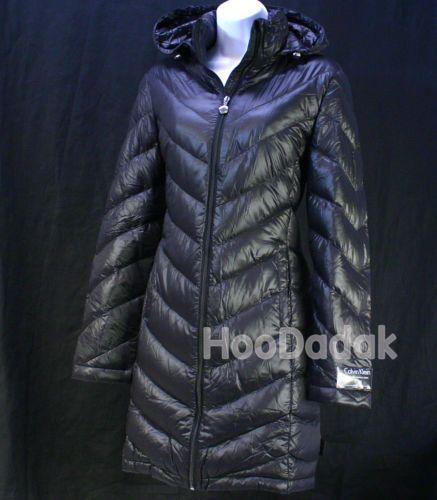 Calvin klein women s duck down packable long jacket ultra light weight