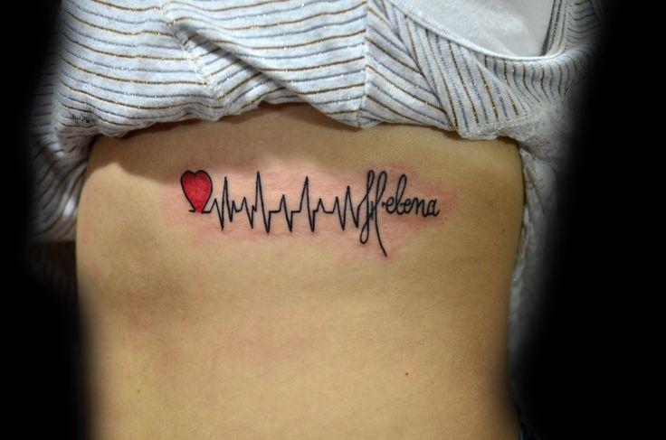 batimentos cardiacos - nome - tatuagem