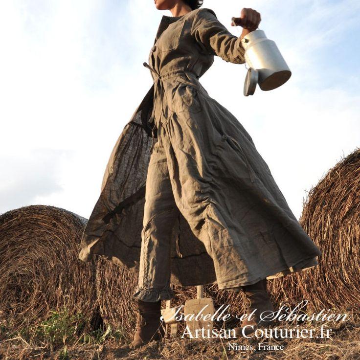 "La Robe-Manteau ""Shabby"" - ARTISAN COUTURIER"