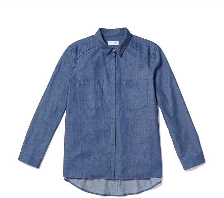 Thacker New York - Dixon Boyfriend Shirt Blue Moon Denim