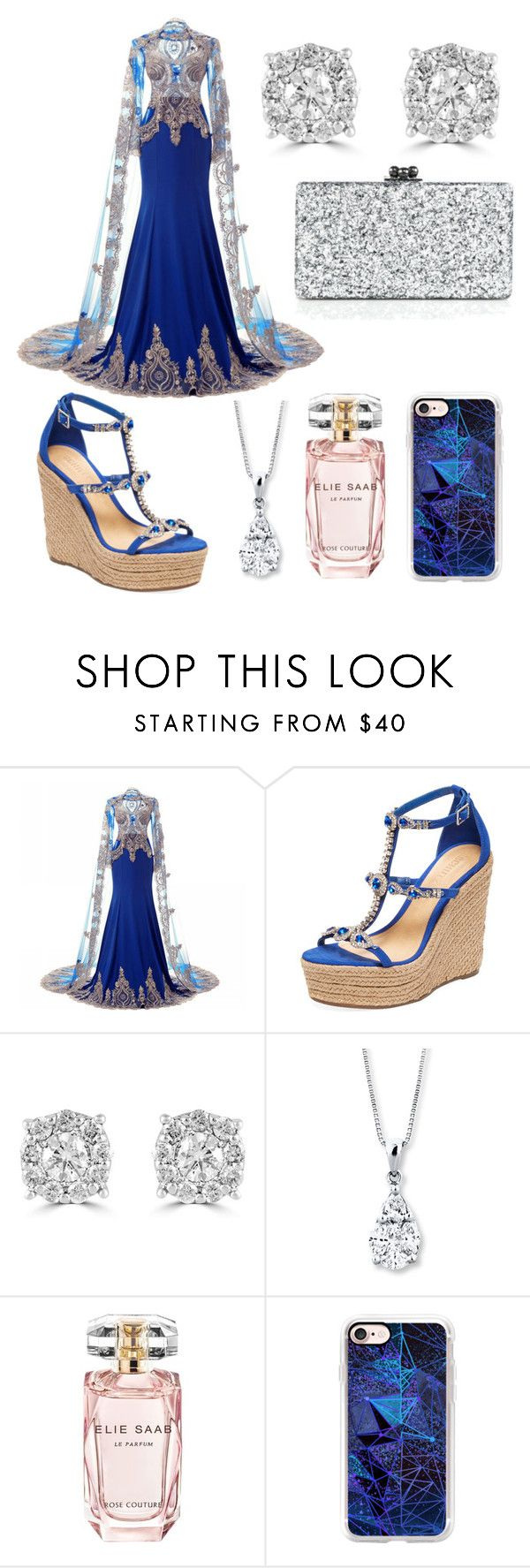"""""""Untitled #435"""" by annawell-1 ❤ liked on Polyvore featuring Schutz, Effy Jewelry, Elie Saab, Casetify and Edie Parker"""