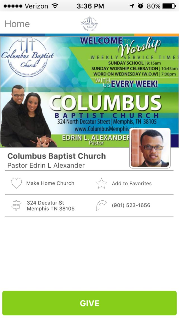 Places of Worship Church Giving App Sunday worship