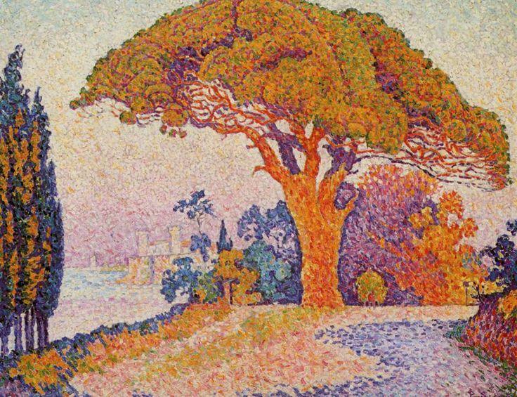 Le pin Bertaud à Saint-Tropez - Paul Signac
