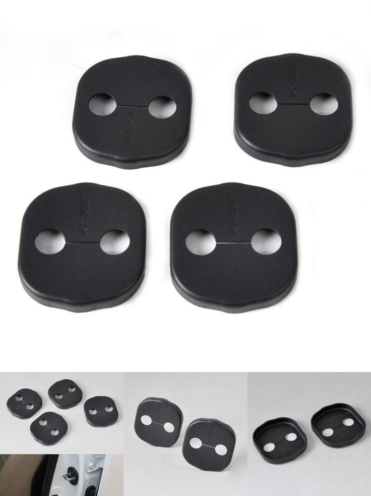 [Visit to Buy] New 4pcs Car Door Striker Cover Lock Protector Antirust for Kia Sorento Optima Hyundai Santa Fe 2012 2013 2014 2015 #Advertisement