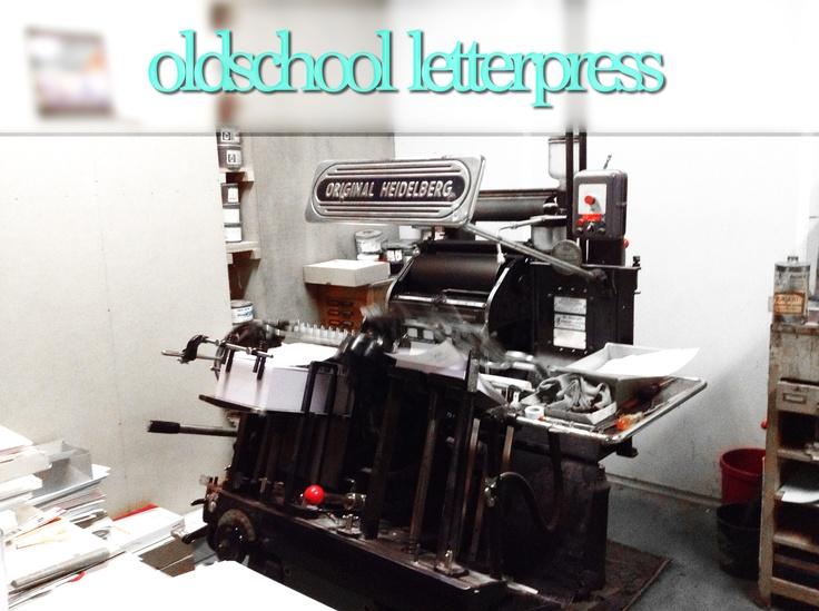 oldschool letterpress machine   @Druckhaus Marburg